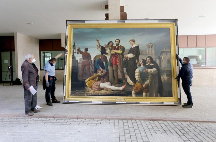 Es una de las piezas principales de la exposición enmarcada en el proyecto conmemorativo 'El tiempo de la libertad. Comuneros V Centenario'