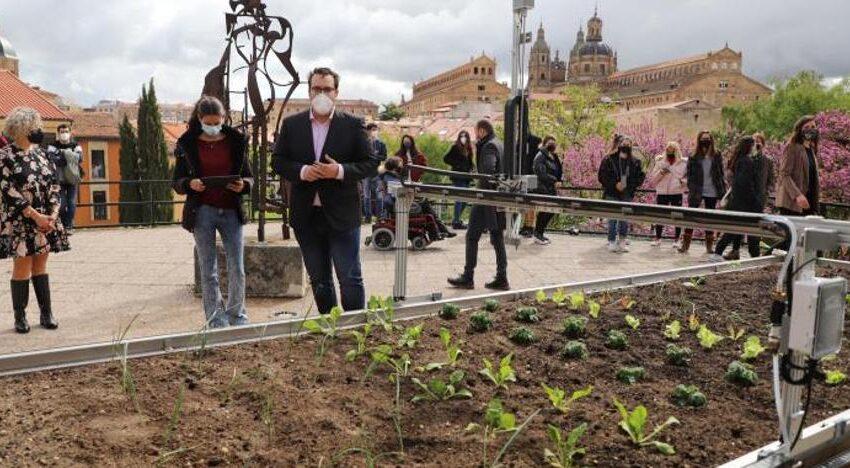 La Universidad de Salamanca presenta un robot con capacidad para cuidar y mantener un huerto