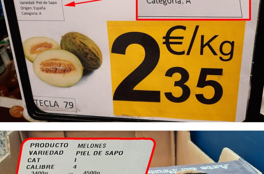 Denuncian que Carrefour vende melones piel de sapo de Brasil como si fueran españoles