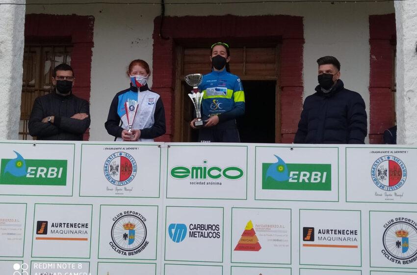 Espectacular victoria de Claudia Parra para el HyD Escuela de Ciclismo Salmantina en el GP Albares de la Ribera