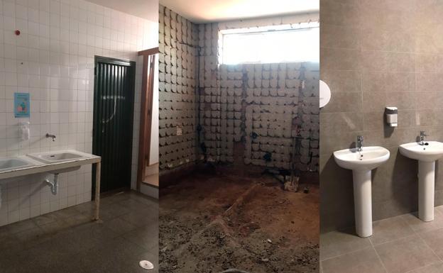 Proceso de la reforma de los baños