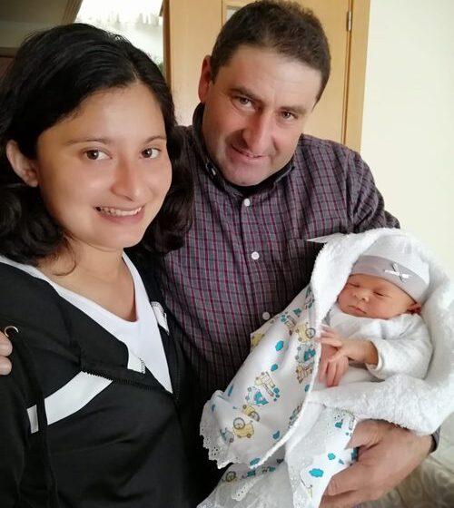Nace un niño en Saldeana después de 13 años sin nuevos nacimientos