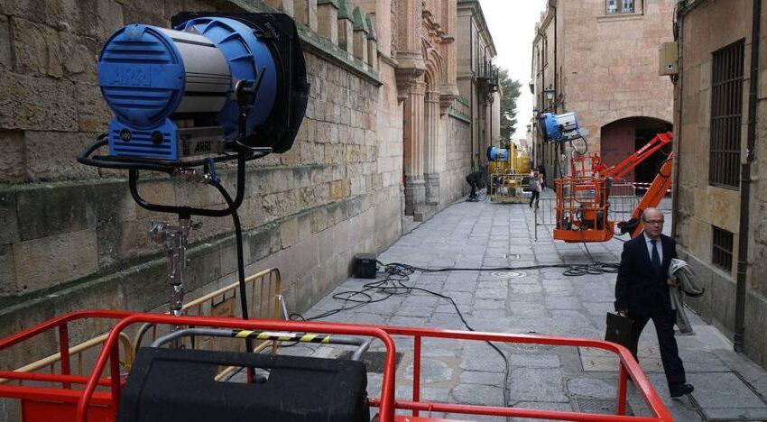 Salamanca acoge el rodaje de '8 19', protagonizado por una treintena de profesionales de «primera línea»
