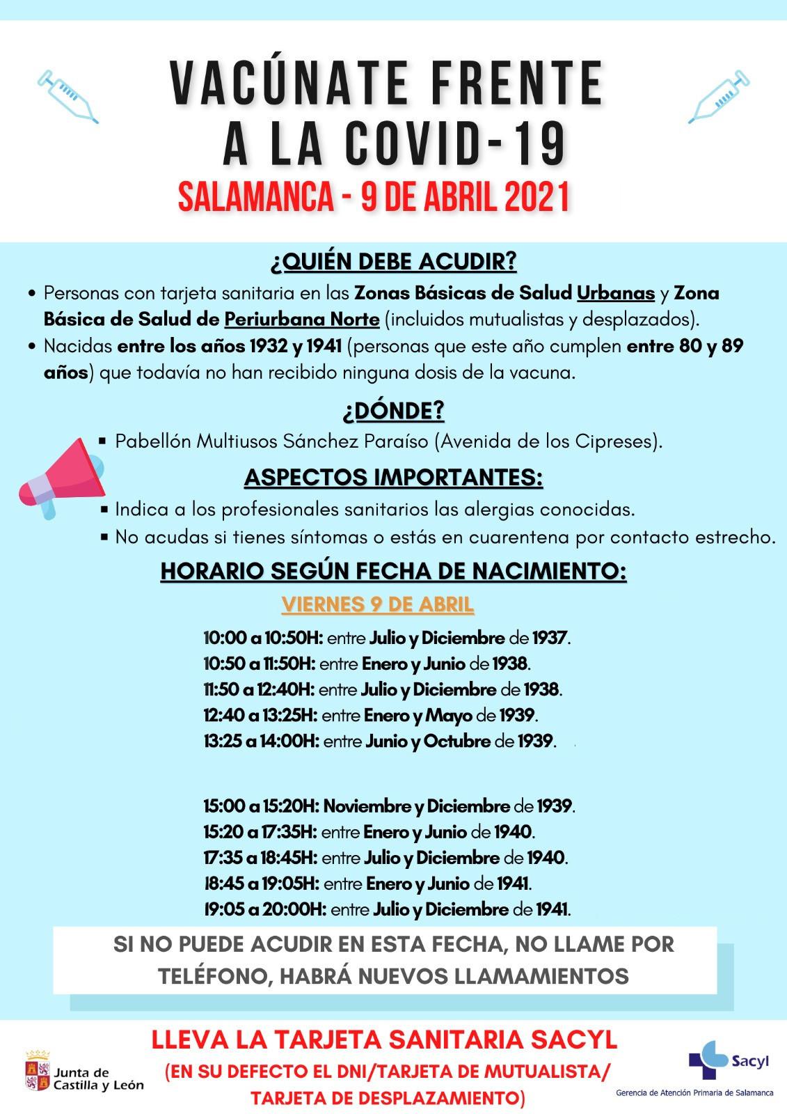 Vacunaciu00f3n del viernes 9 de abril