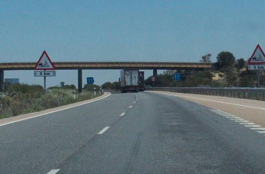 Las obras en la A-62 entre Salamanca y Valladolid obligan a circular por un solo carril a la altura de Cañizal