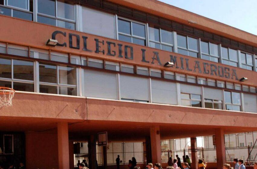Un aula del colegio La Milagrosa, en cuarentena por coronavirus