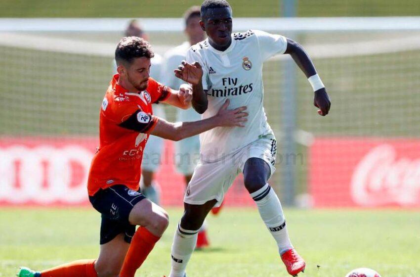 El primer gol de Vinicius en Valdebebas… fue al Unionistas