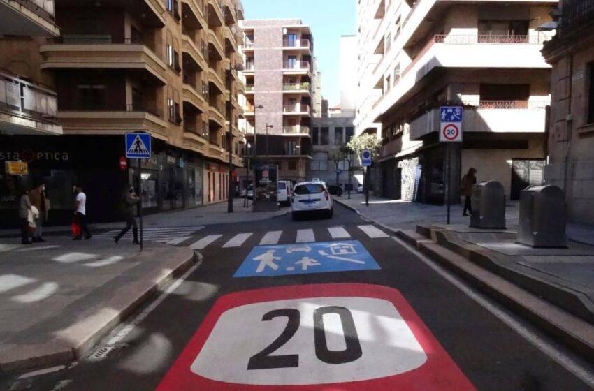 Salamanca ya tiene 214 calles con la velocidad limitada a 20km/h