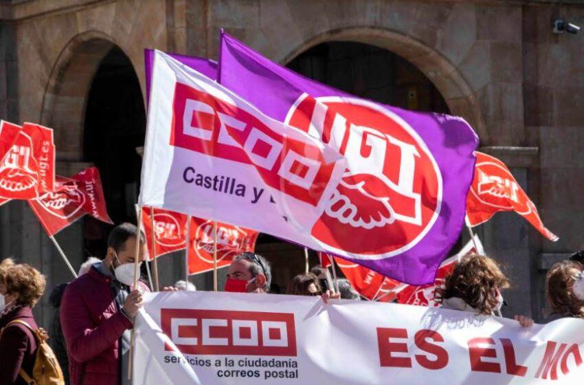 Delegados sindicales se concentran ante la Subdelegación del Gobierno