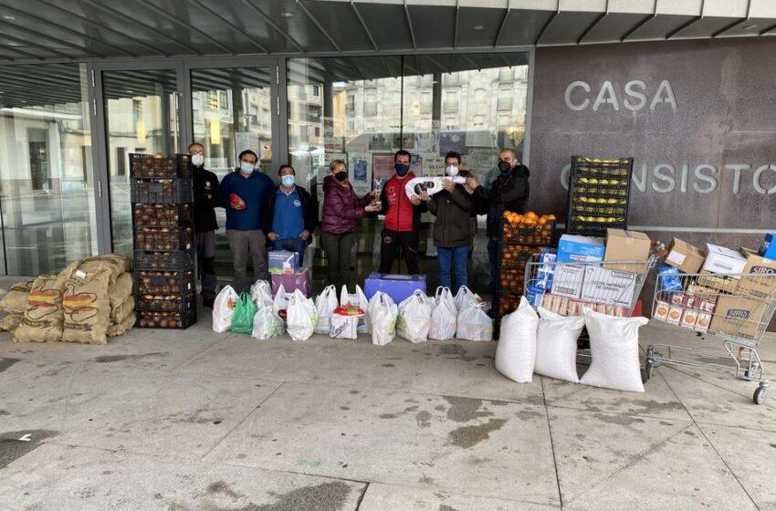 La V Jamountain Bike hace entrega de los 1.500 kilos de comida al Banco de Alimentos de Salamanca