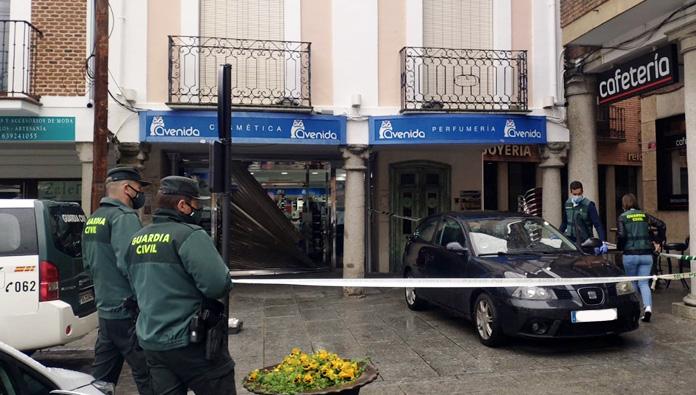 Los aluniceros del robo en Peñaranda trataron de asaltar más de un vehículo durante el golpe