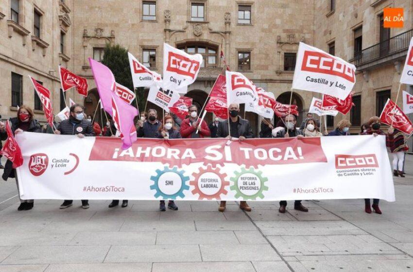 UGT y CCOO volverán a movilizarse este lunes bajo el lema #AhoraSíToca frente a la Subdelegación del Gobierno