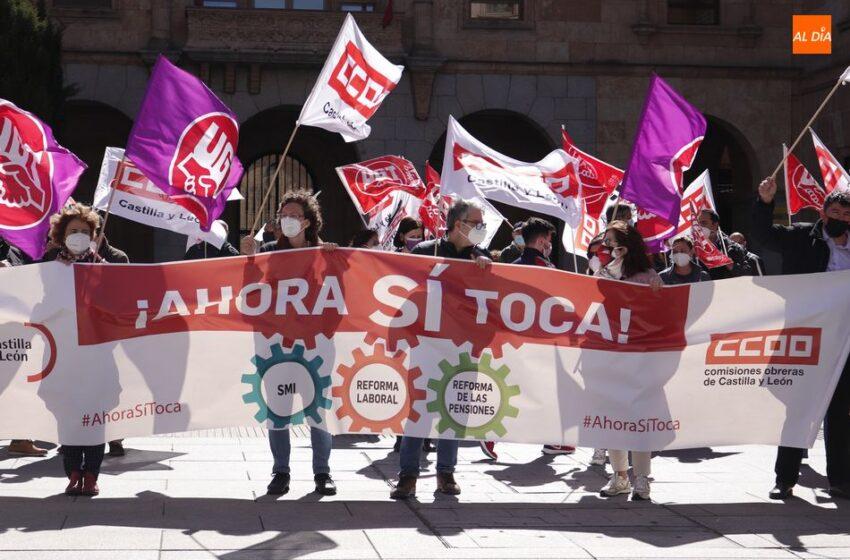 #AhoraSíToca, nueva movilización de UGT y CCOO para que el Gobierno cumpla sus promesas