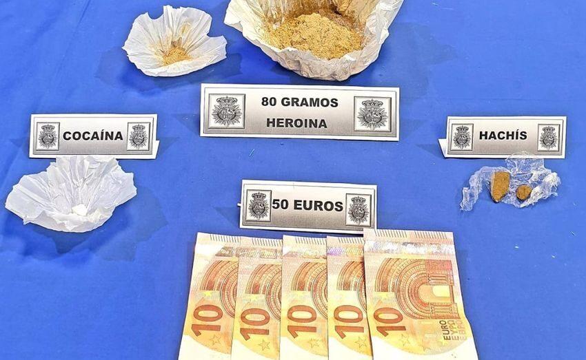 Detenida en Valladolid una pareja por tráfico de drogas cuando regresaba de Salamanca para abastecerse