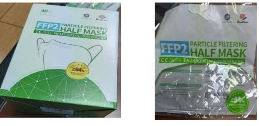 Retiradas estas mascarillas FFP2 por riesgo de inhalación de partículas de grafeno