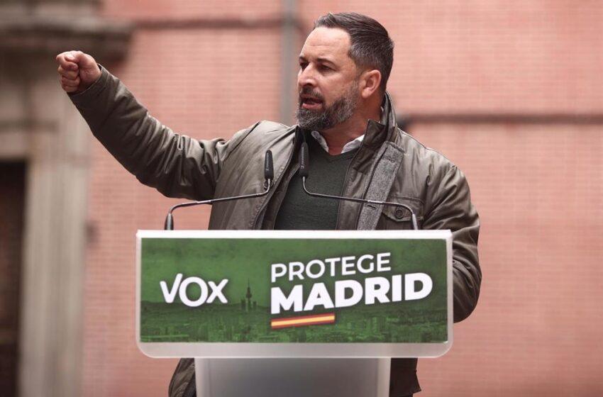 Abascal marca el objetivo de que Vox se convierta en el partido más votado en las próximas elecciones generales
