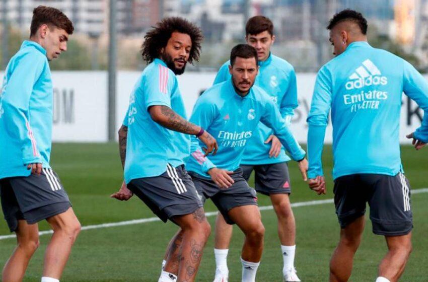 El salmantino David Mellado, con el primer equipo del Real Madrid