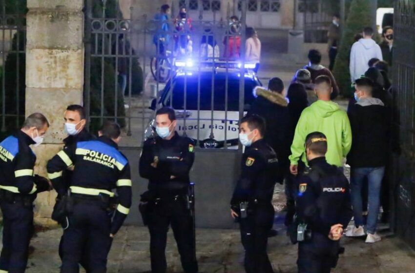 Sigue el desmadre del sábado noche en Salamanca: Más de un centenar de denuncias por incumplir las normas covid