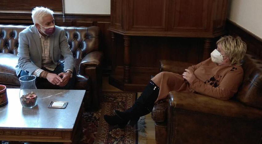 La subdelegada del Gobierno en Salamanca recibe al nuevo secretario provincial de UGT