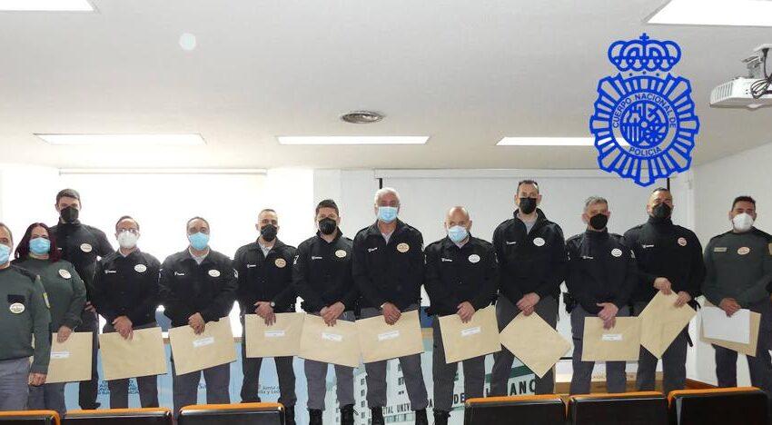 La Policía Nacional de Salamanca reconoce la labor de la seguridad privada en el ámbito sanitario