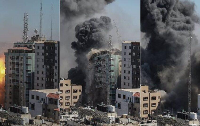 Israel destruye, previo aviso, las oficinas de medios de información internacionales en Gaza