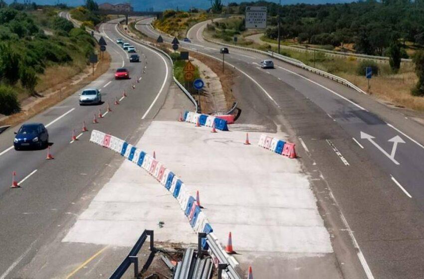 Así afectan desde este lunes las obras de la Autovía de la Plata a la altura de Guijuelo
