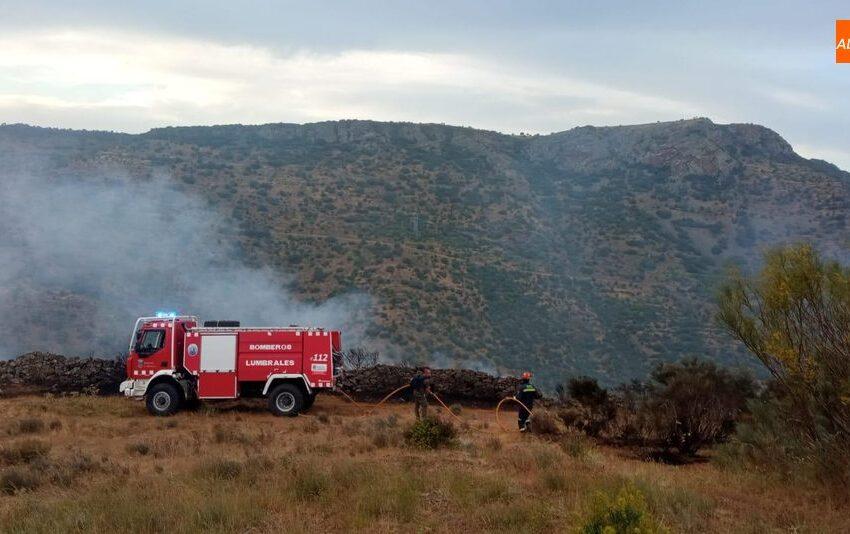 Los bomberos de Lumbrales sofocan varios incendios provocados por rayos