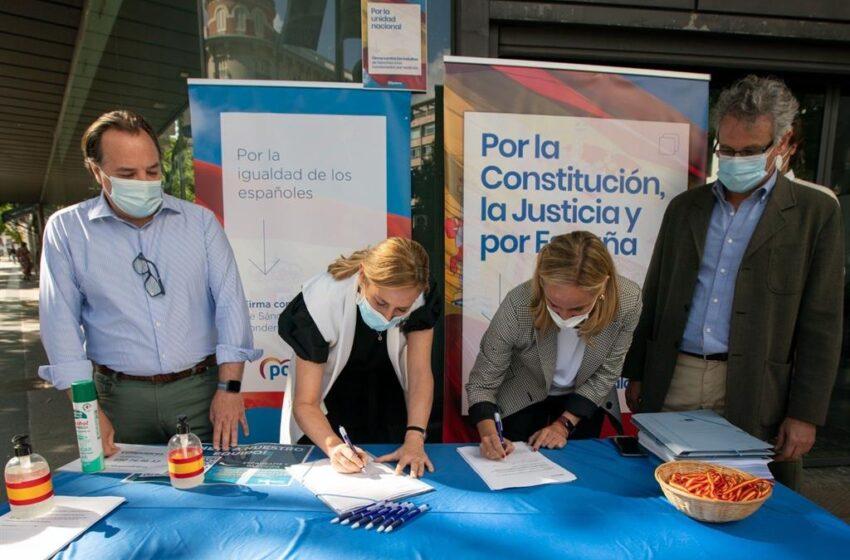El PP abre la campaña de recogida de firmas contra los indultos con cargos del partido desplegados por toda España