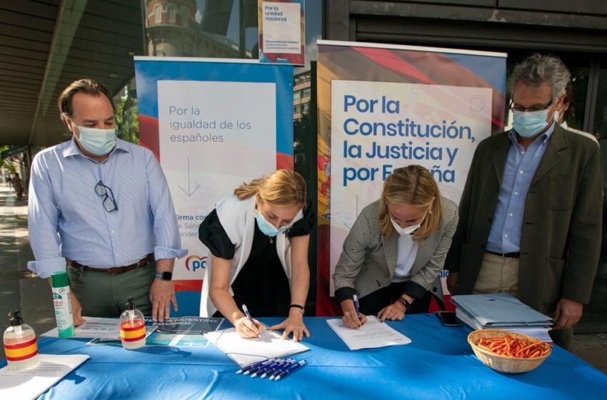 El PP lleva el 13J sus mesas de firmas contra los indultos a las plazas de toda España para los que no pueden ir a Colón