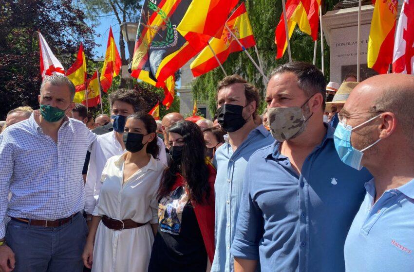 Abascal pide unidad «por encima de siglas políticas»: «Volvemos a Colón sin miedo y sin vergüenza a ningún tipo de foto»