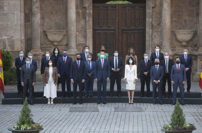 Durante la Conferencia de Presidentes de Salamanca