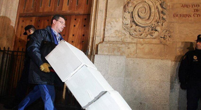 La Generalitat recibe nueva documentación de los 'papeles de Salamanca'