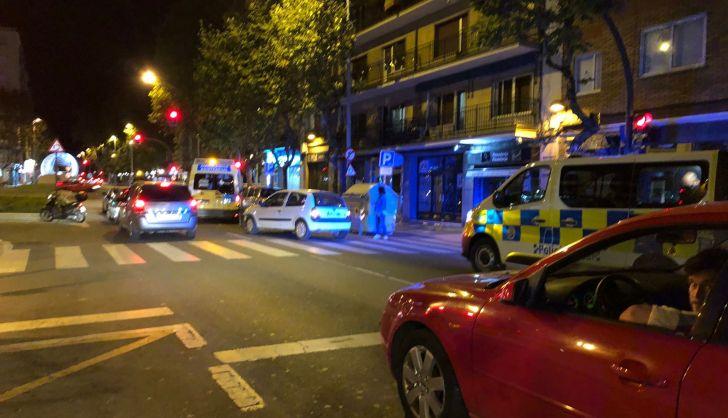 Un herido en una colisión entre un turismo y una moto en Torres Villarroel