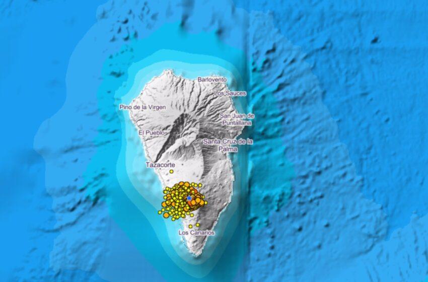Enjambre sísmico en La Palma | Directo: disminuye la sismicidad y la superficie se eleva hasta los 10 centímetros